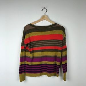 Multi Color Stripped Crew Sweater Loft MP